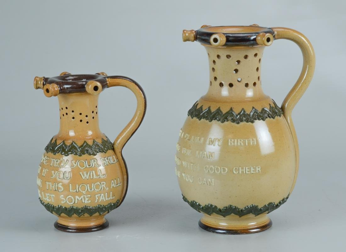 (2) Doulton Lambeth stoneware pitchers - 2
