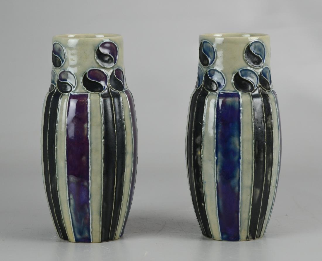 Pr Doulton stoneware vases