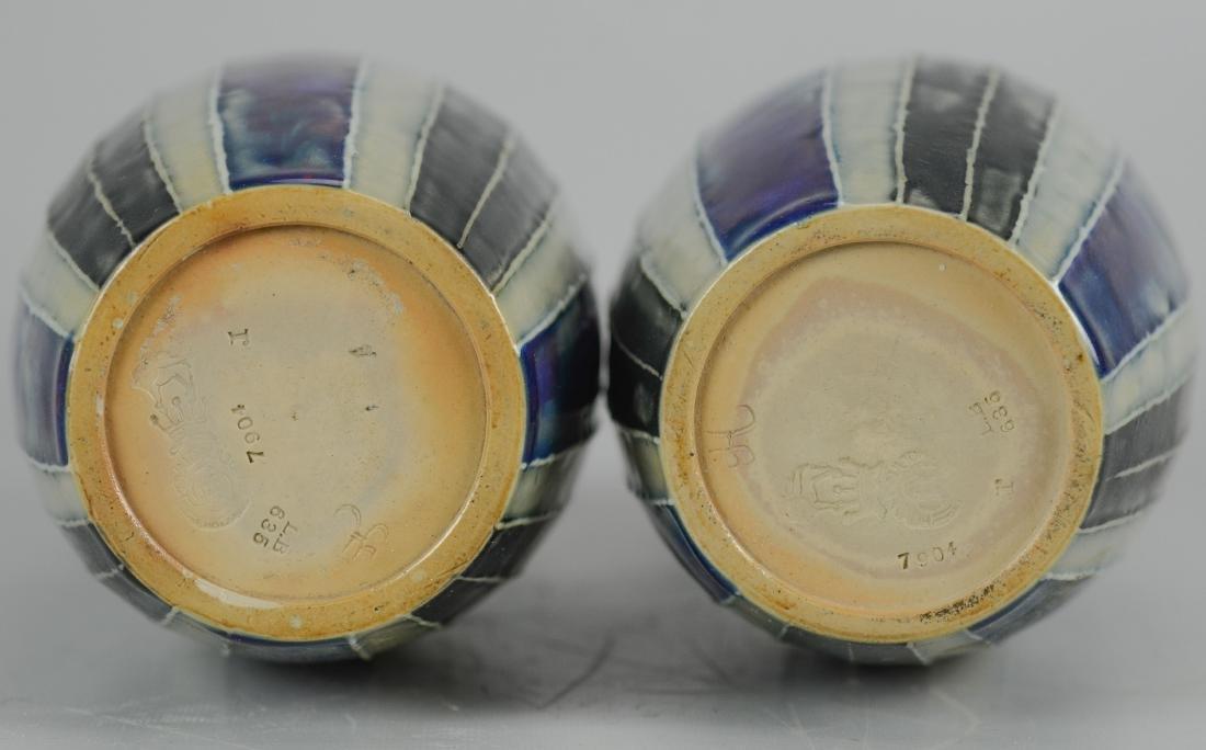 Pr Doulton stoneware vases - 2