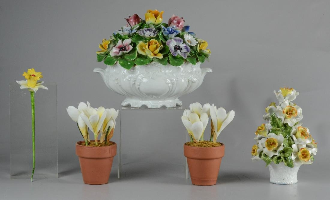 5 Porcelain Floral Groupings