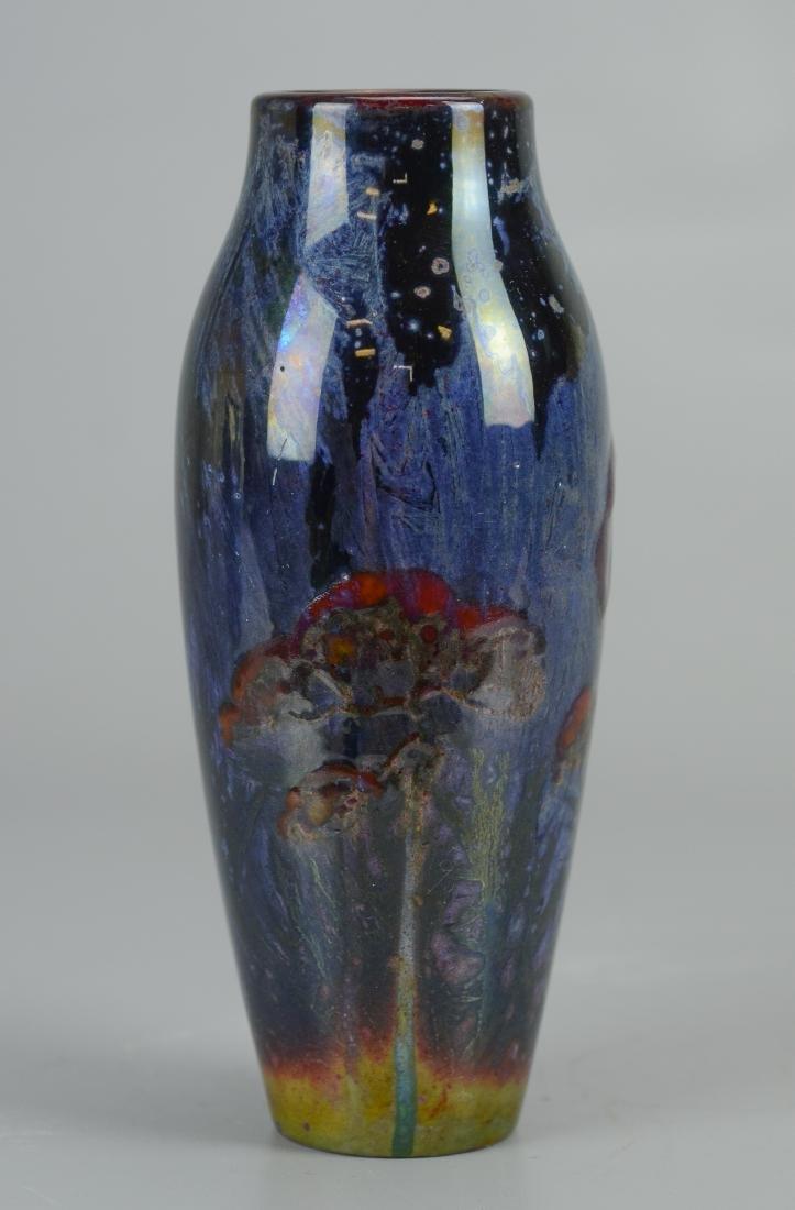 Doulton art pottery vase, artist signed