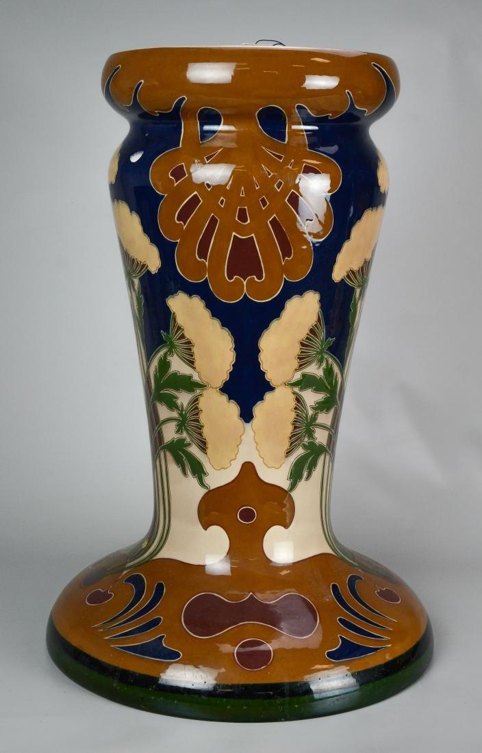 Large Art Nouveau jardiniere and pedestal - 2