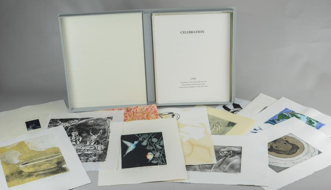 """Collection of 20 PAFA prints, including """"Celebration"""""""