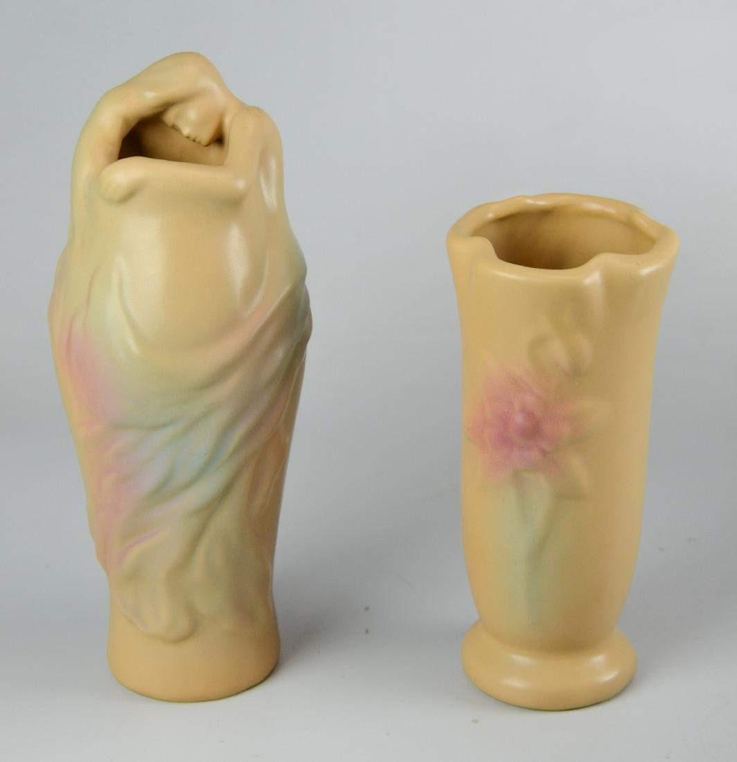 """(2) Van Briggle vases, one """"Lorelei"""""""