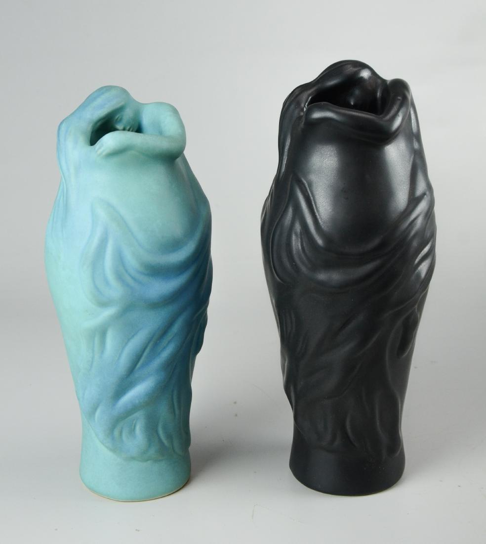 """(2) Van Briggle """"Lorelei"""" vases"""