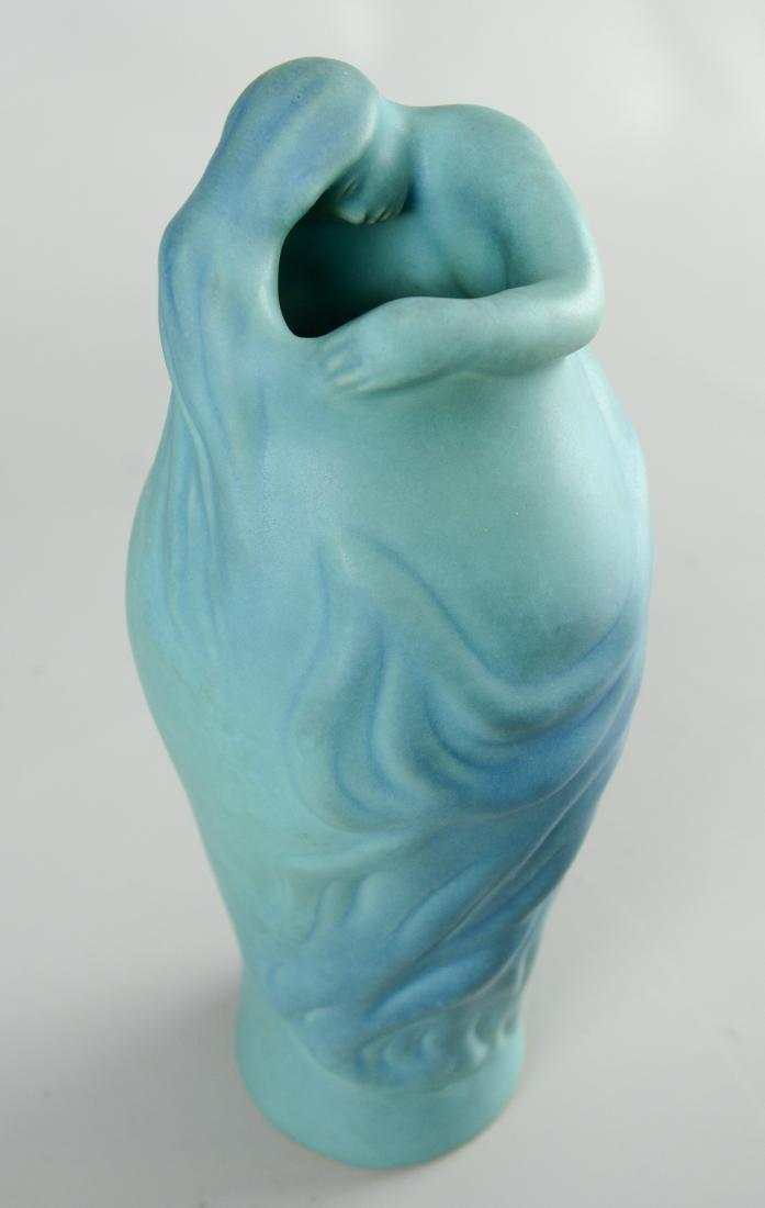 """(2) Van Briggle """"Lorelei"""" vases - 4"""