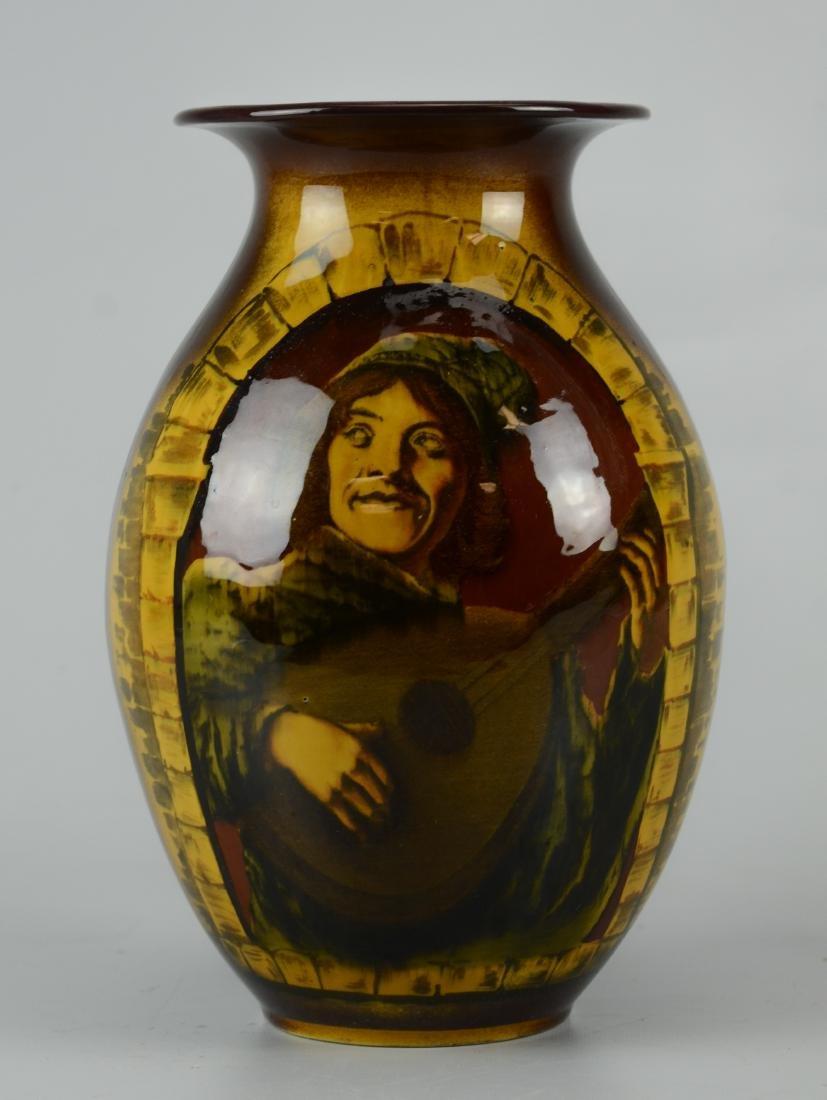Villeroy & Boch Mettlach brown glaze vase
