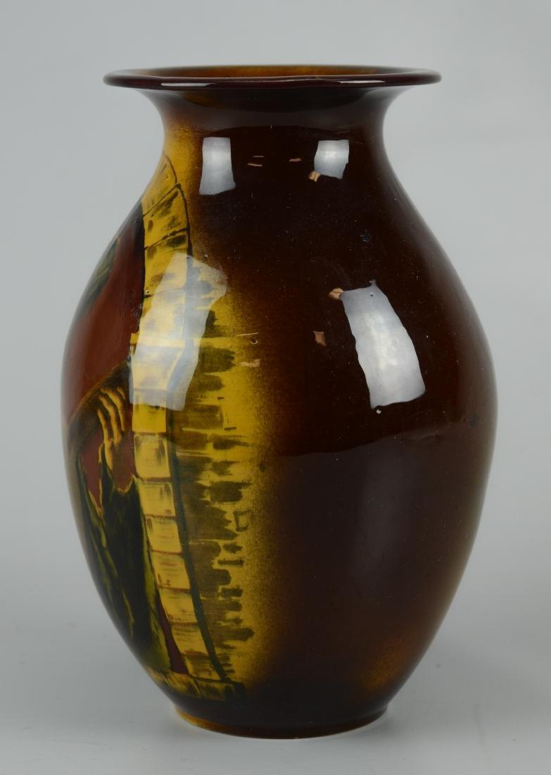 Villeroy & Boch Mettlach brown glaze vase - 2