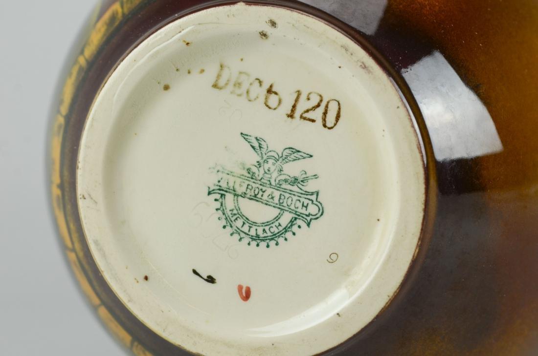 Villeroy & Boch Mettlach brown glaze vase - 3