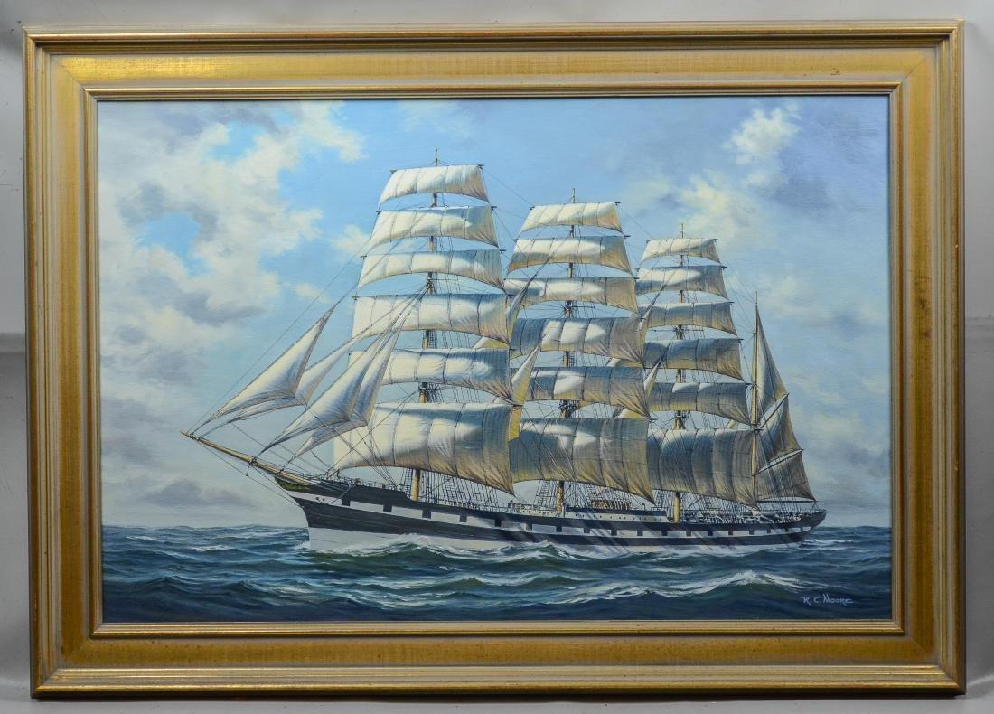 "Richard C Moore, 20th C American, marine painting, ""M - 2"