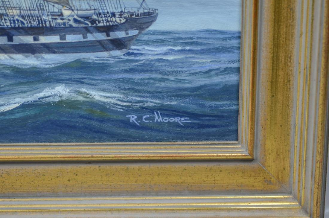 "Richard C Moore, 20th C American, marine painting, ""M - 3"