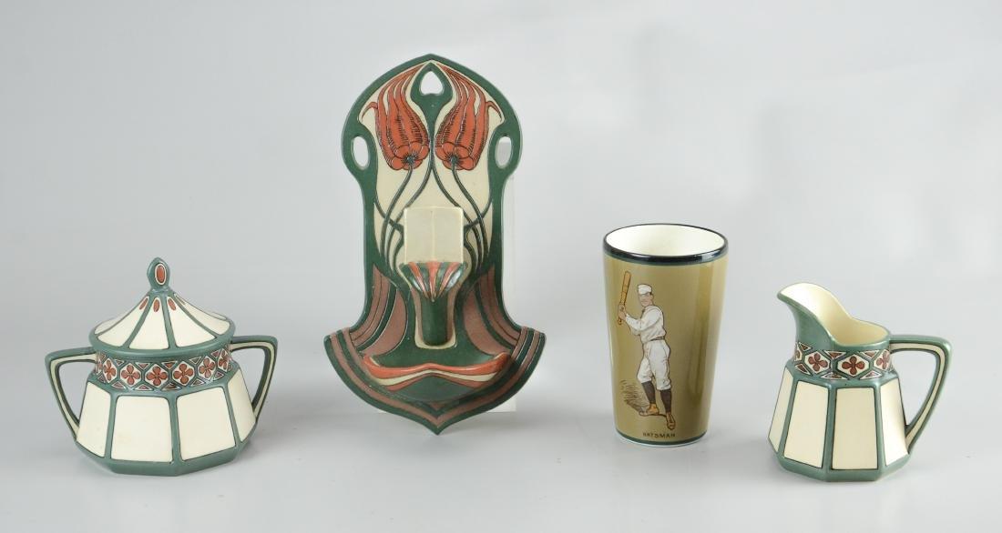 (4) Pcs Mettlach porcelain