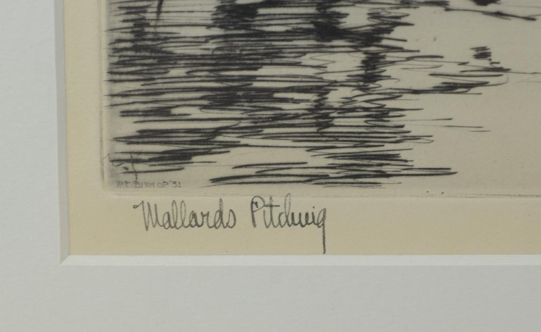 Richard Bishop, 2 etchings of ducks - 7