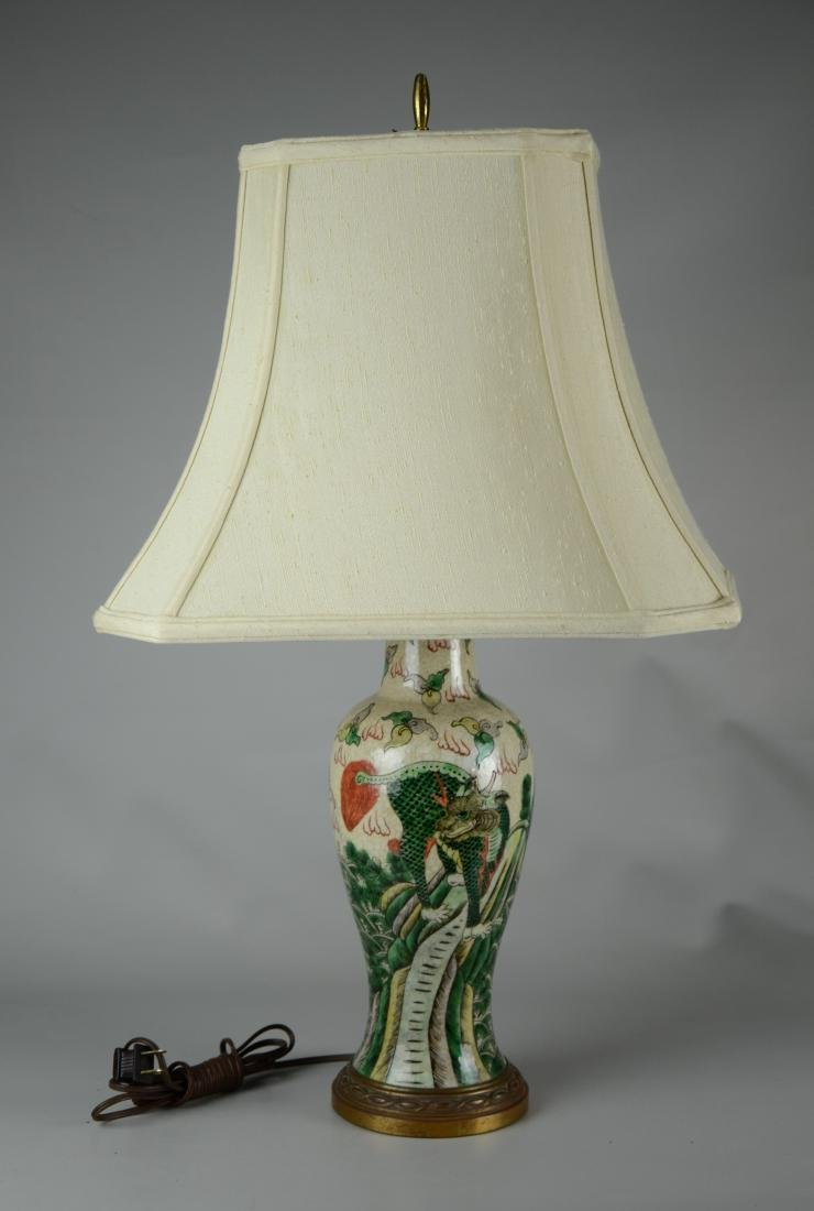 Chinese porcelain vase mounted as a lamp