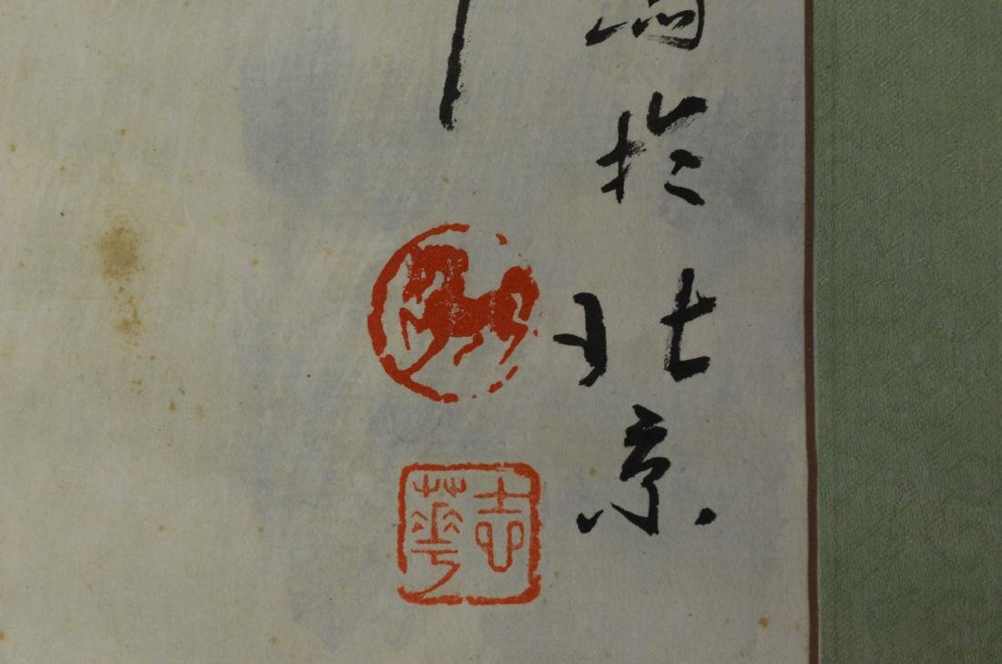 3 Chinese scrolls depicting horses - 3