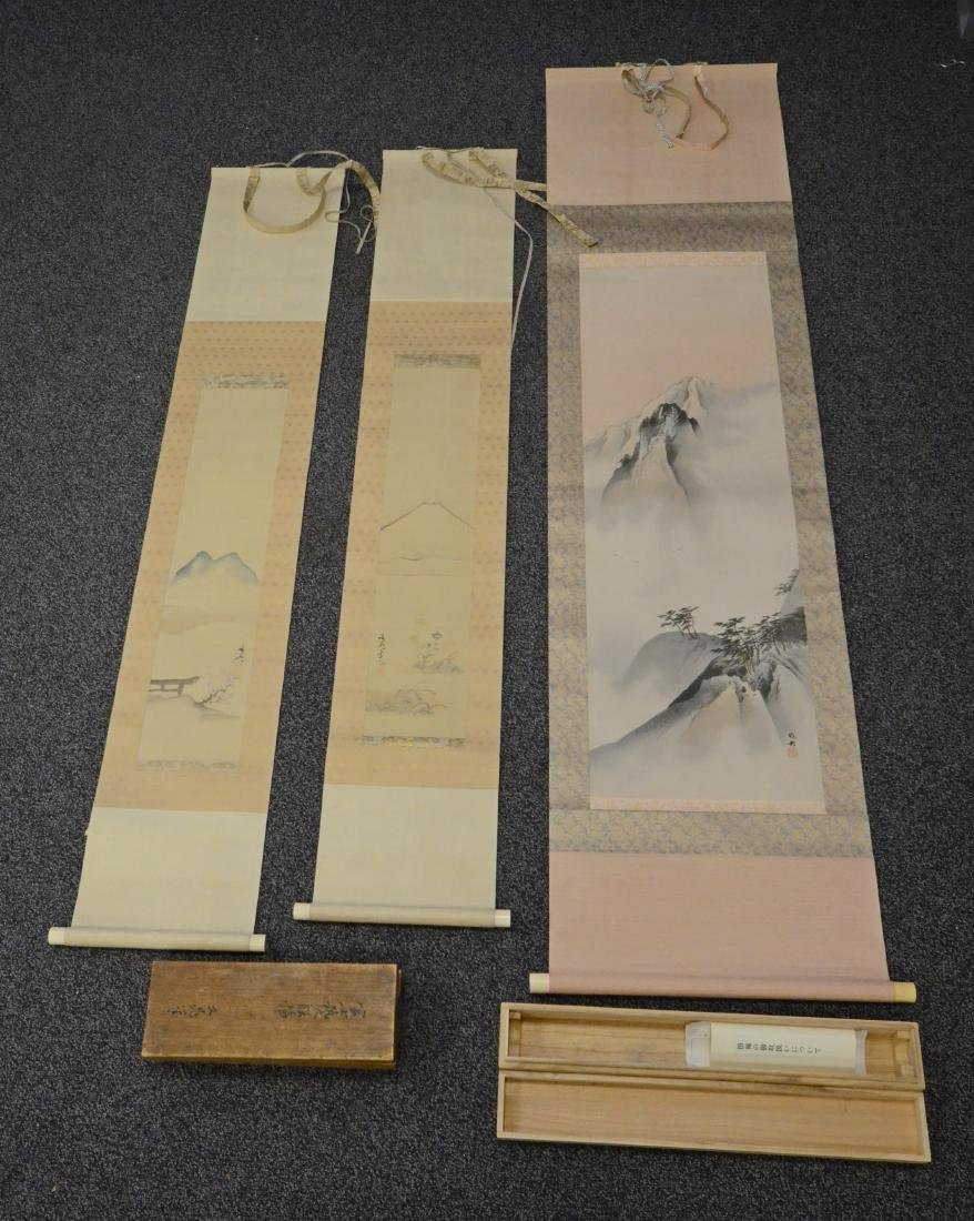 3 Japanese scrolls