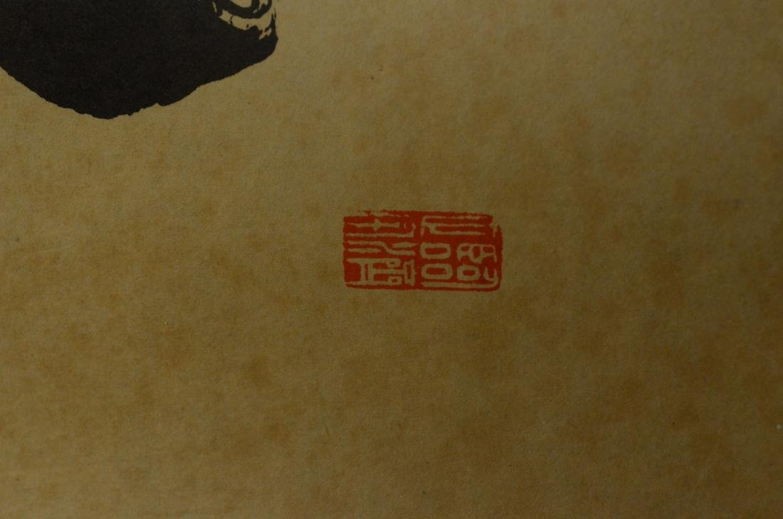 4 Chinese scrolls, one with calligraphy - 6