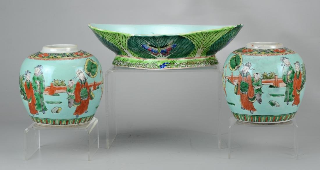 (3) Pcs Chinese porcelain - 2