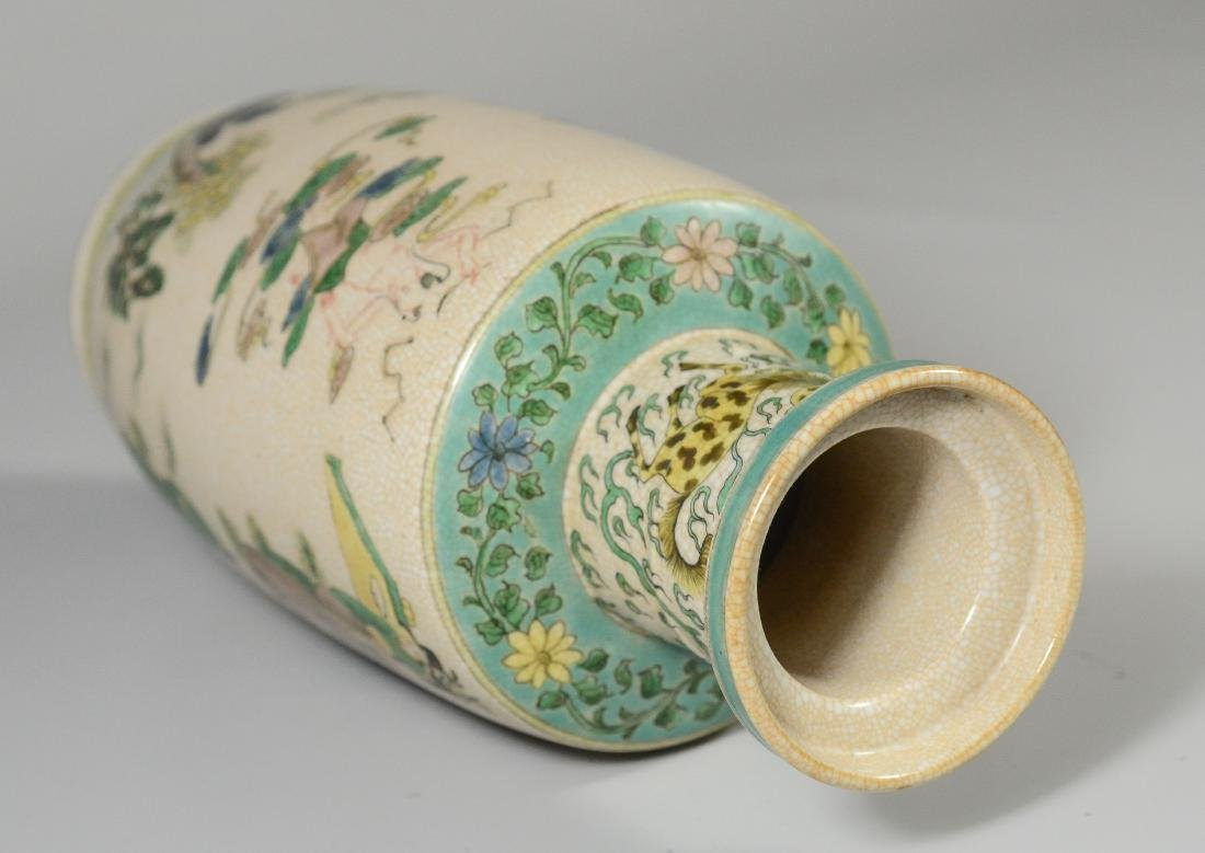 Chinese porcelain Rouleau vase - 7