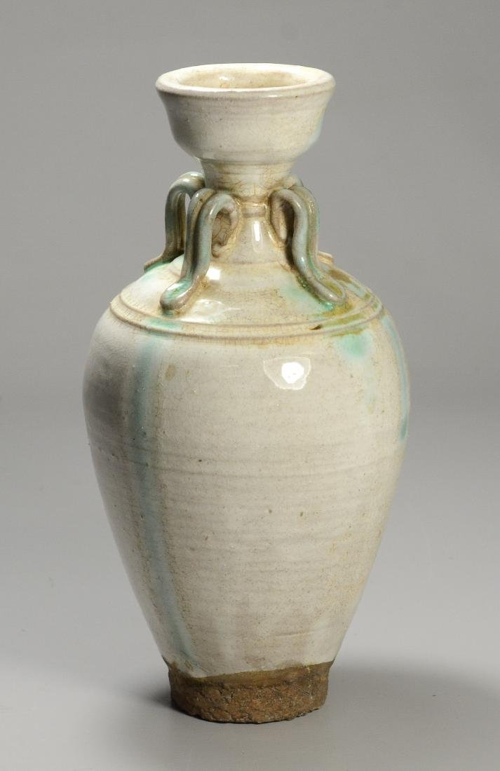 Song style vase with green drip glaze