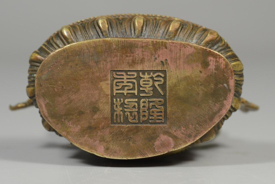 Tibetan style brass figure of a Buddha - 2