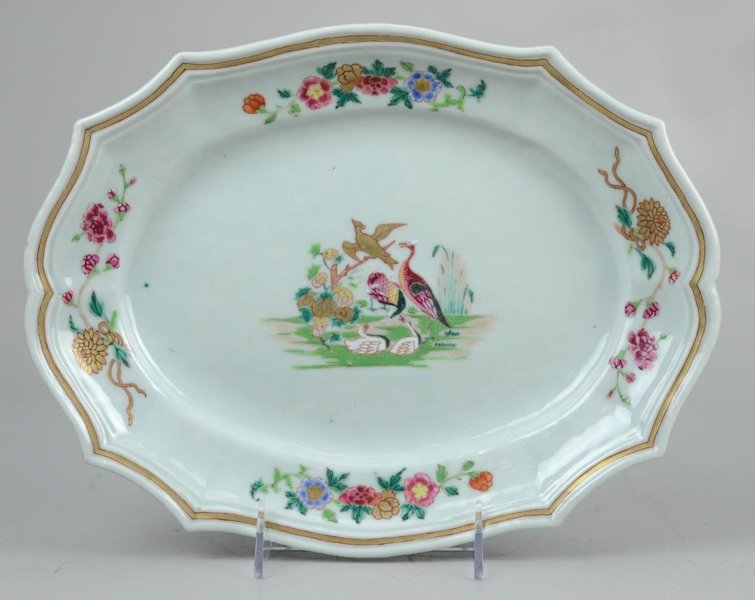 Chinese export porcelain platter