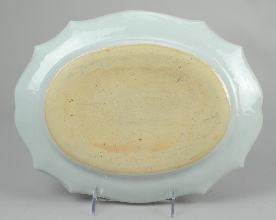 Chinese export porcelain platter - 3