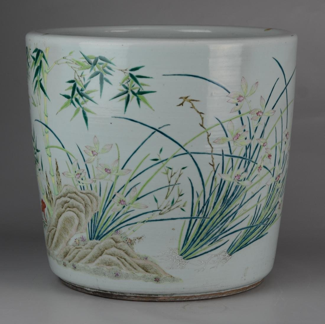Chinese porcelain jardiniere - 10