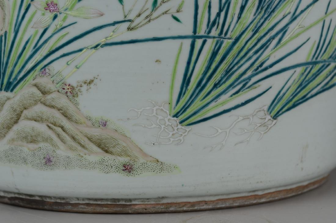 Chinese porcelain jardiniere - 11