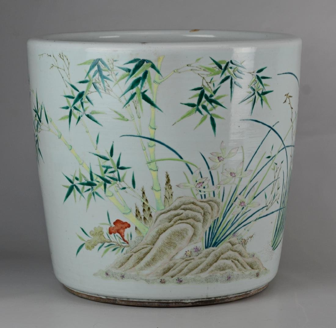 Chinese porcelain jardiniere - 7