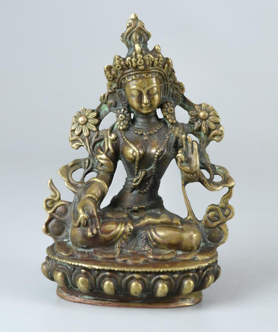 Tibetan style bronze figure