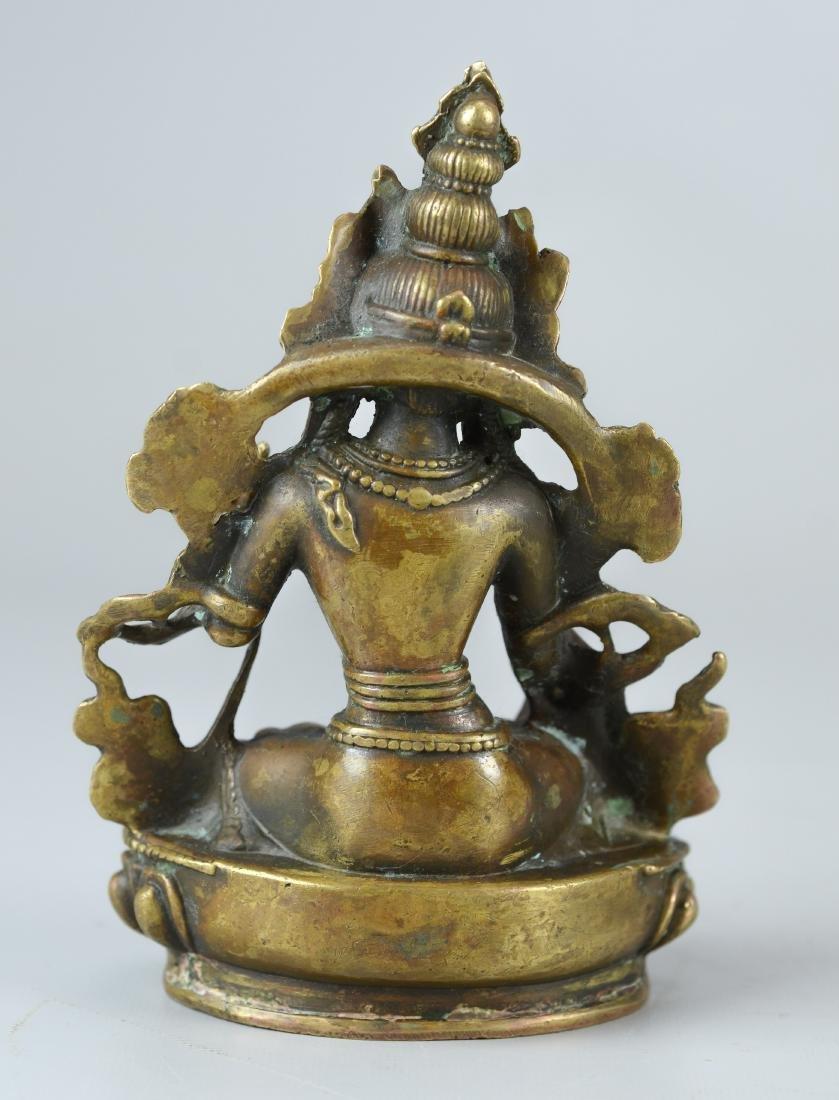 Tibetan style bronze figure - 2