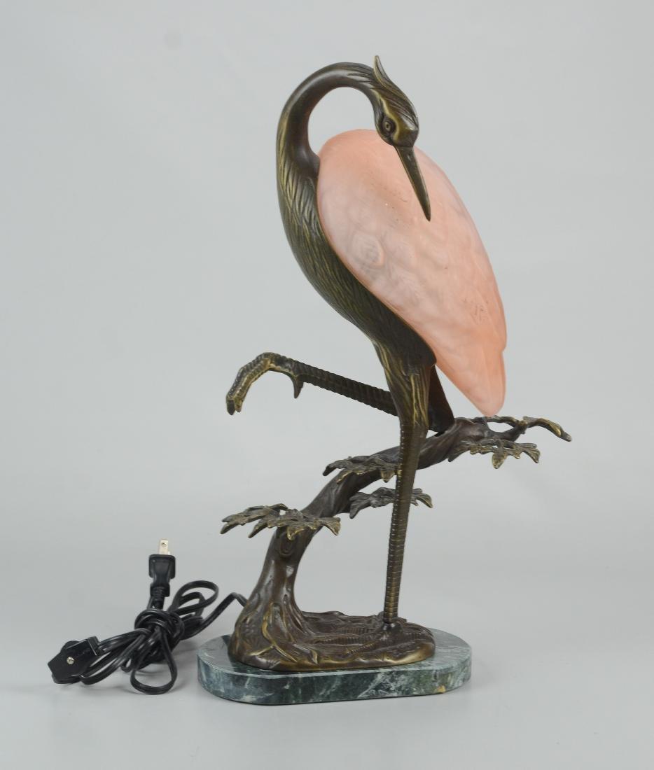 Andrea by Sadek Tin Chi heron art glass lamp