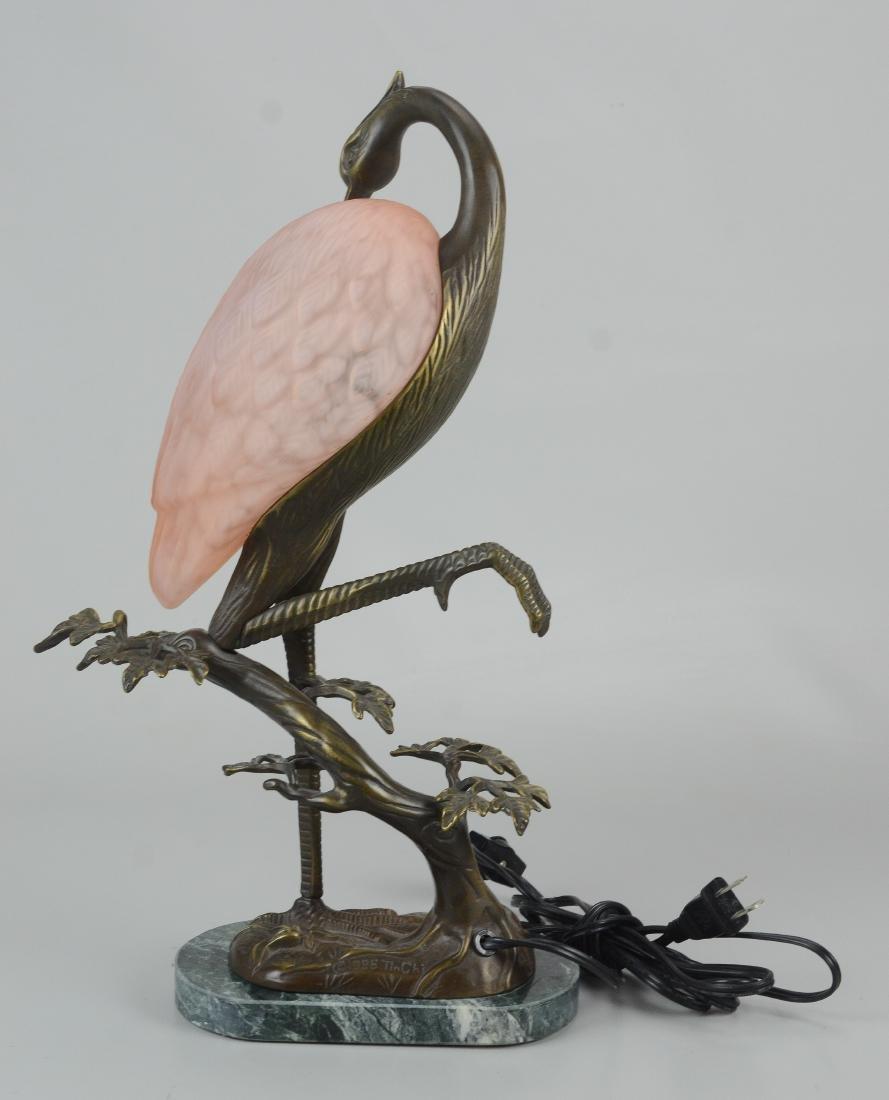 Andrea by Sadek Tin Chi heron art glass lamp - 4