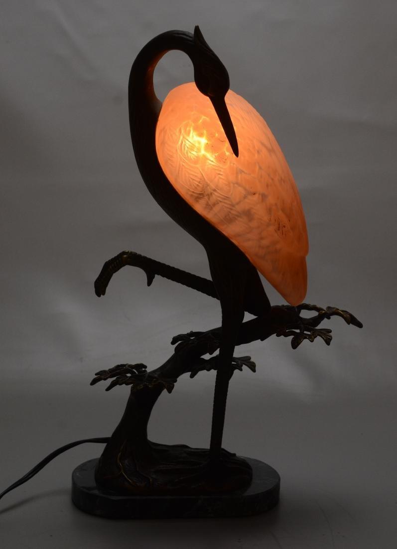 Andrea by Sadek Tin Chi heron art glass lamp - 6
