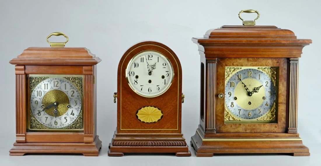(3) Shelf clocks, each with a Westminster chime