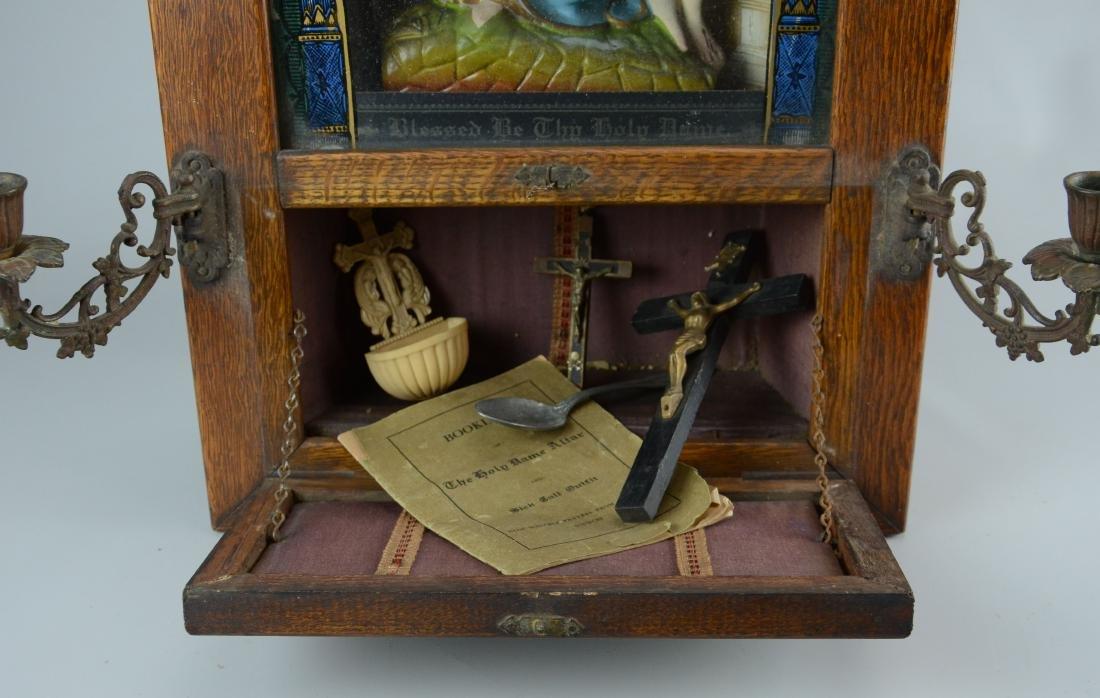 Holy Name Altar and Sick Call Catholic home altar - 5