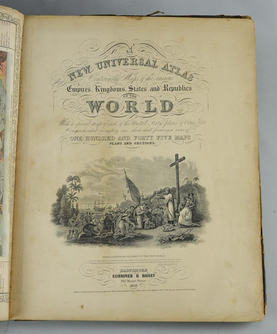 "Mitchel, Samuel Augustus ""A New Universal Atlas"" - 8"