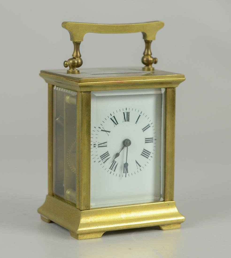French carriage clock made for JE Caldwell