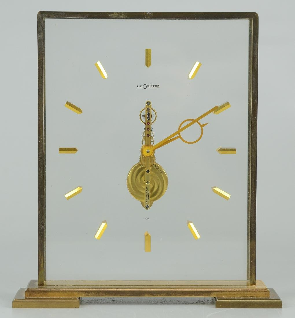 LeCoultre, Switzerland, Skeletonized desk clock