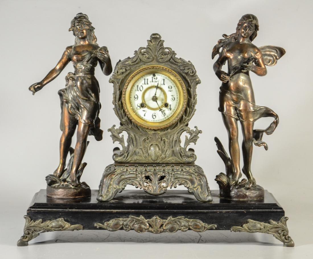Waterbury Clock Co, statue clock
