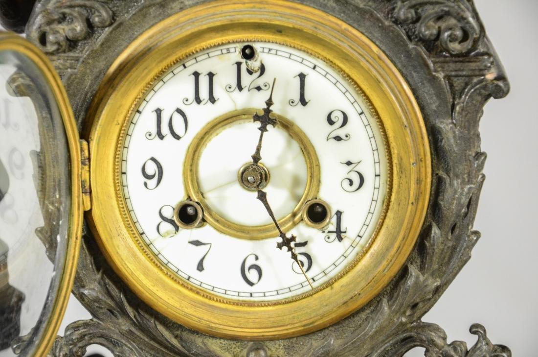 Waterbury Clock Co, statue clock - 2