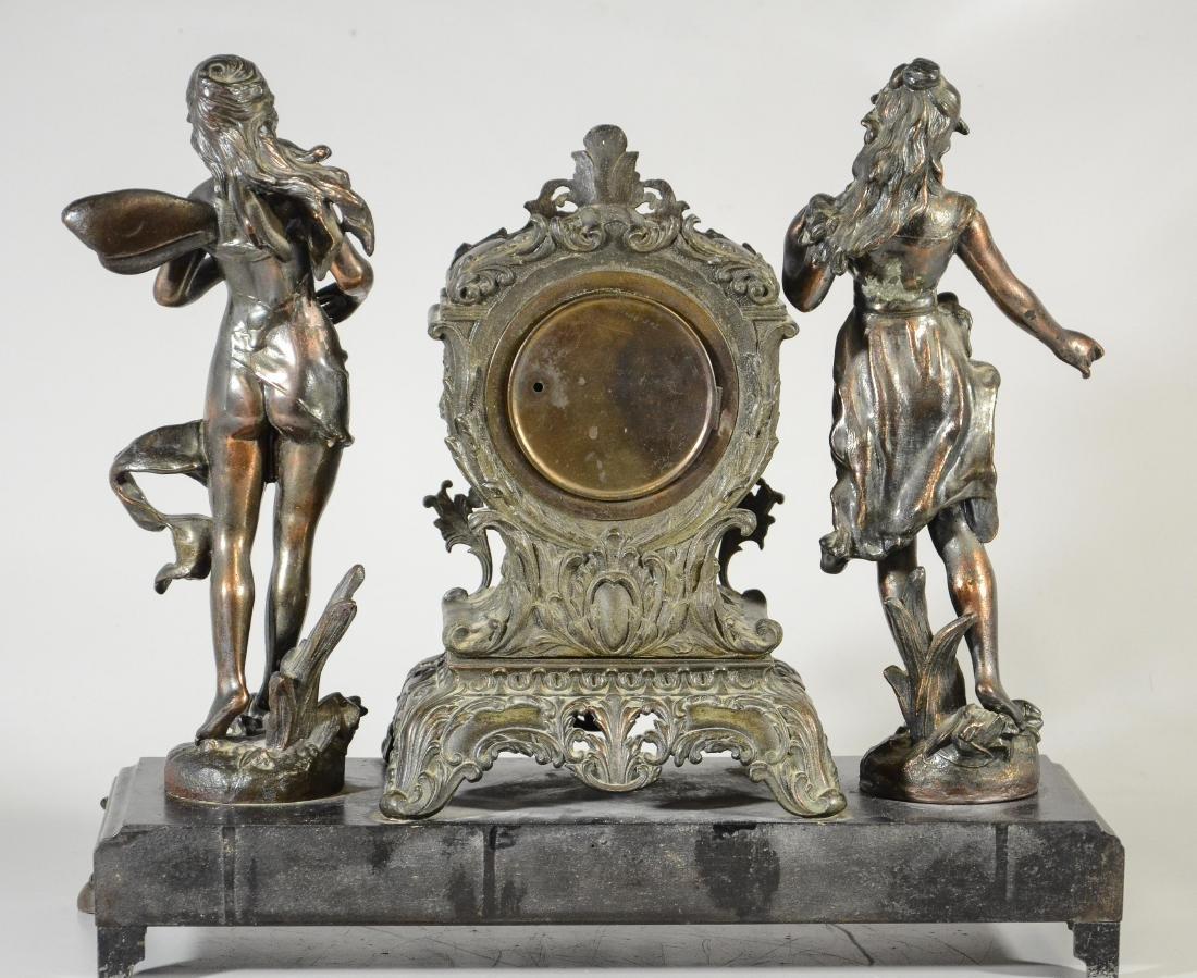 Waterbury Clock Co, statue clock - 3