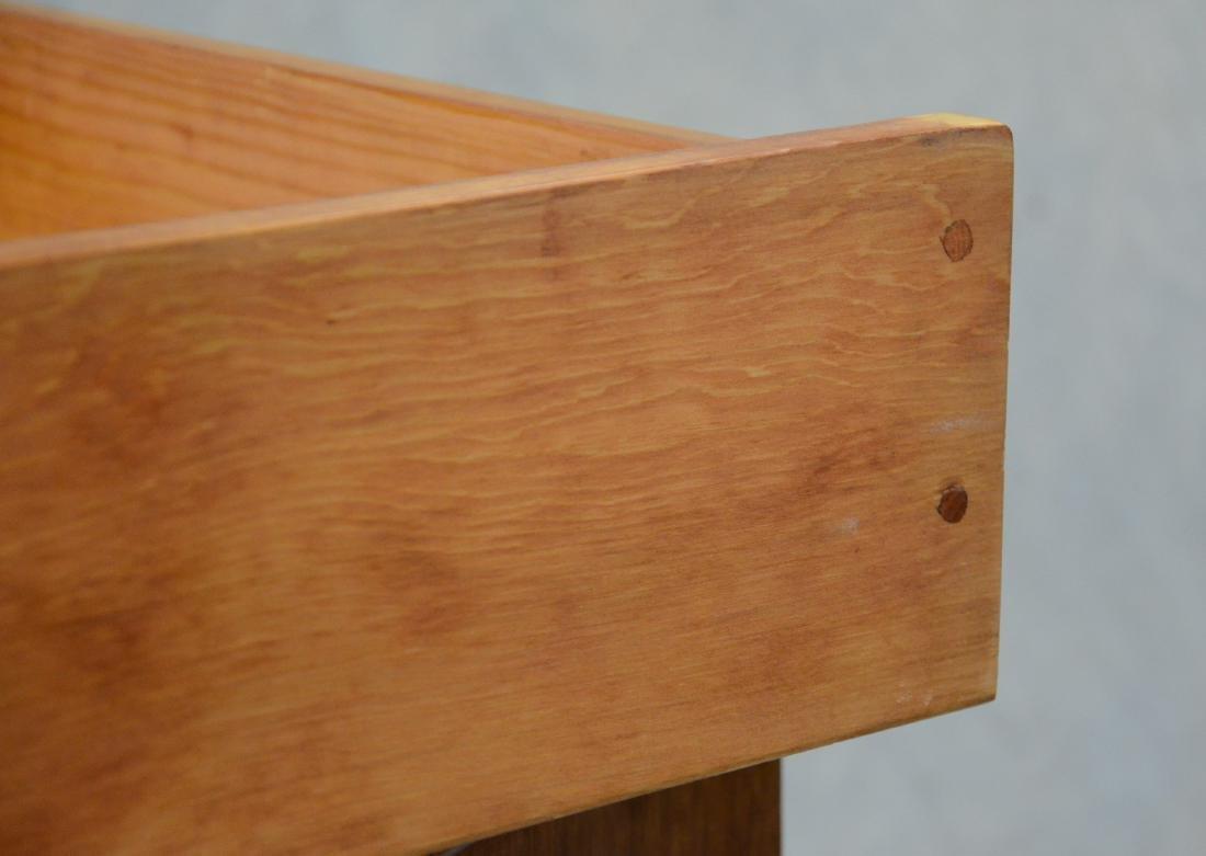 Georgian style chest of drawers, block feet, 2 drawers - 3
