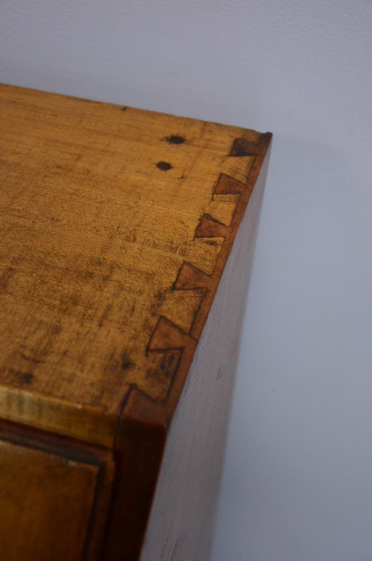 19th c slant front desk, brass hardware, dovetailed - 2