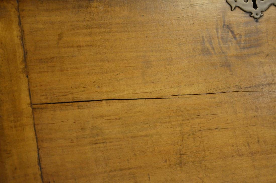 19th c slant front desk, brass hardware, dovetailed - 4