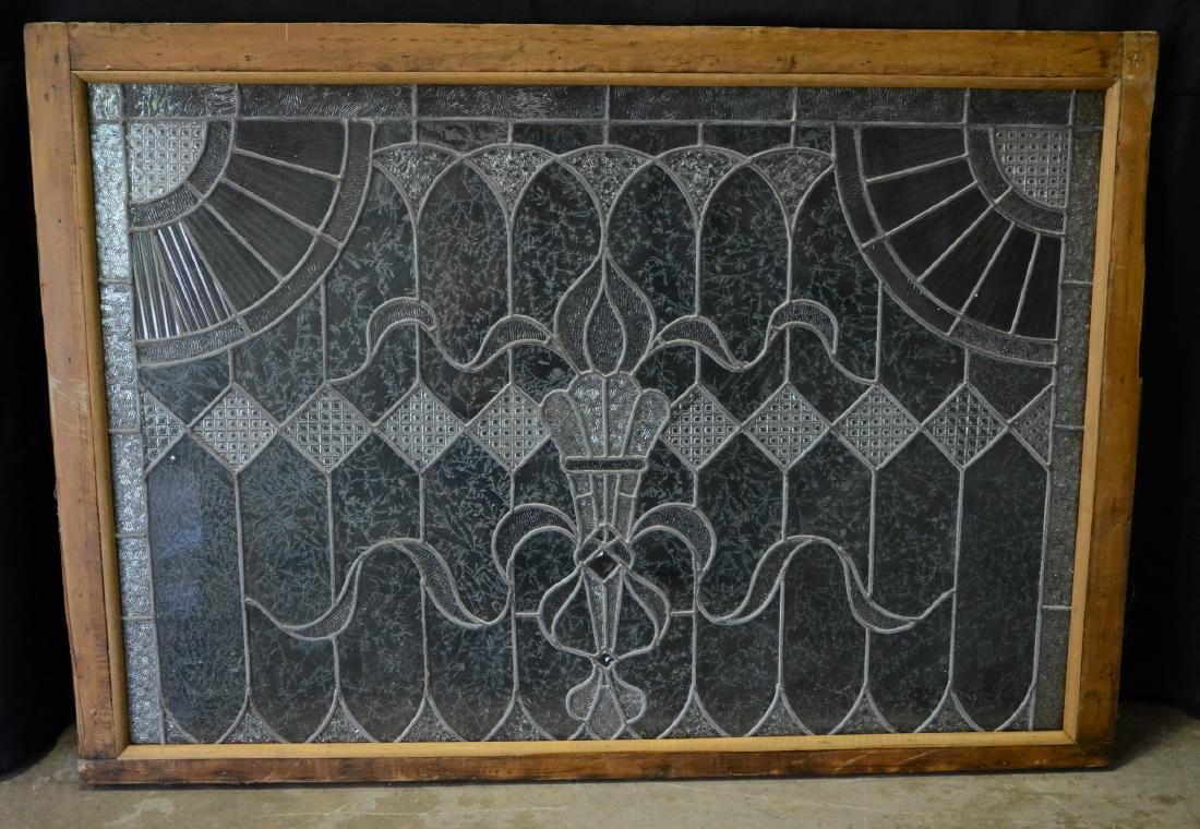 Etched Leaded glass window