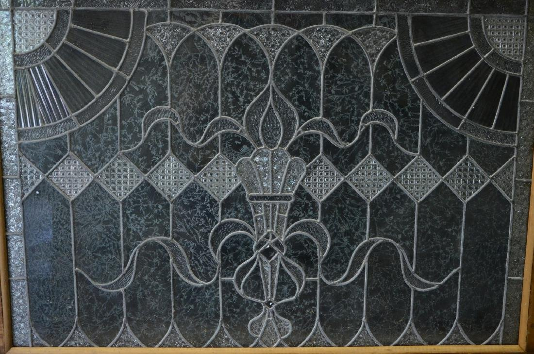 Etched Leaded glass window - 2