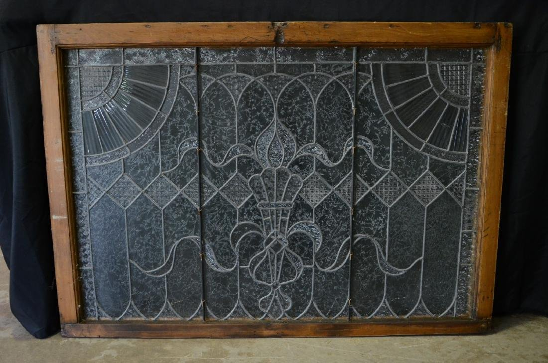 Etched Leaded glass window - 4