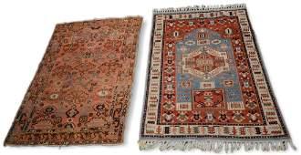 2 Rugs, Turkish Kazak & Persian Hamadan